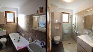 Wanne, WC, Waschbecken komplett renoviert