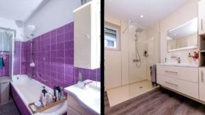 Badezimmer modern - vorher-nachher