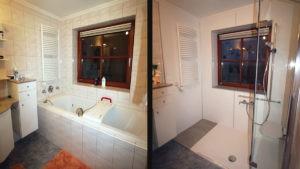 Praktische Dusche ersetzt Wanne