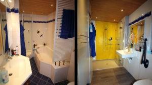 Edle Dusche ersetzt Wanne