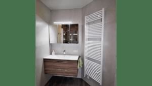 Waschtisch mit Spiegel und Handtuchtrockner nach Maß