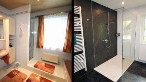 Badezimmer komplett renoviert