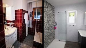 Altes Badezimmer komplett renoviert