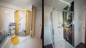 Maßfertigung Badezimmer vorher-nachher