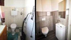 Neues WC ersetzt altes WC