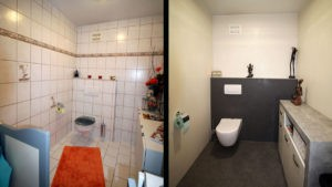 Altes WC komplett renoviert