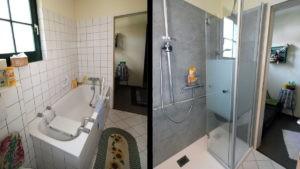 Badrenovierung - Wanne raus, Dusche rein