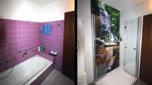 Altes Bad komplett renoviert mit Badezimmerpaneele