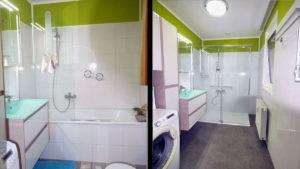 Badewanne raus-Dusche rein