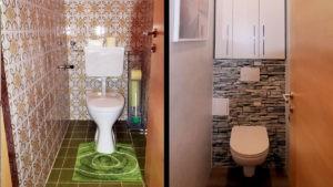 Altes WC-Neues WC im Vergleich