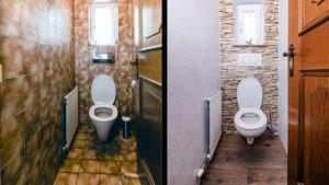 Vorher-Nachher WC im Vergleich