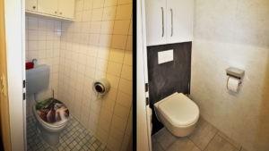 Vorher-Nachher - Modernes WC