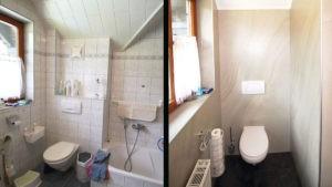 Neues WC im Badezimmer